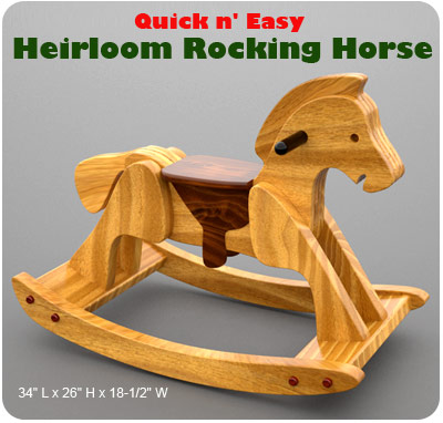 beautiful rocking horse plans
