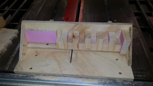 Now the joint is sized via these blocks. they are friction fit (jammed) into the cavity.